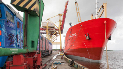 "Handling area ""Economia"" of the Arkhangelsk sea port"