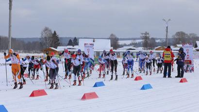 Старт женского скиатлона