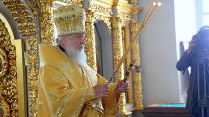 Предстоятель Русской православной церкви вознёс молитву о мире на Украине