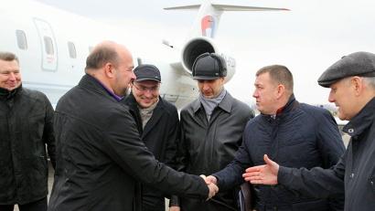 В национальном аэропорту Минска Игоря Орлова встречали представители Министерств иностранных дел России и Беларуси