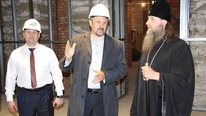 Дмитрий Яскорский рассказал митрополиту Даниилу о ходе строительных работ