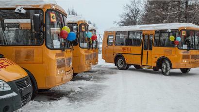 В течение года для школ Поморья будет закуплено 34 новых автобуса