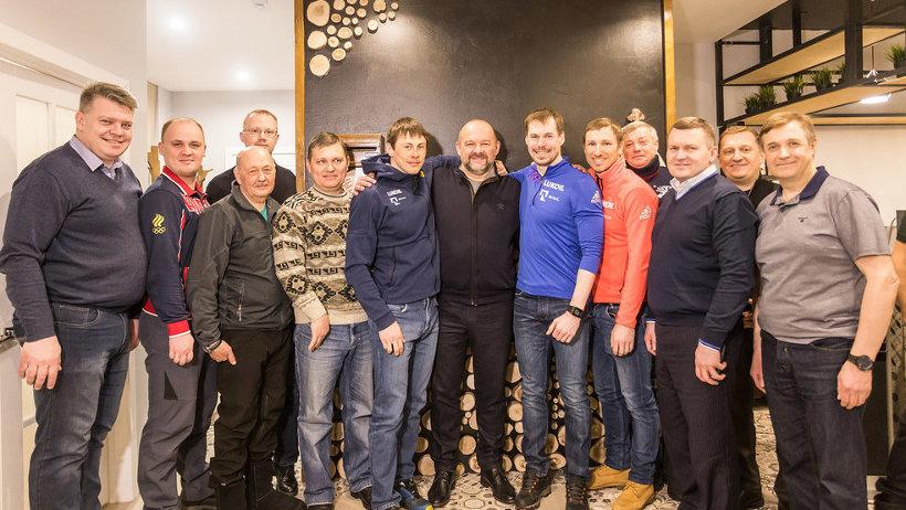 Игорь Орлов обсудил развитие «Малиновки» с прославленными лыжниками России