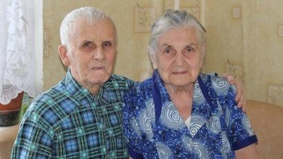 Супружеский стаж Константина Дмитриевича и Галины Константиновны Анциферовых – 61 год