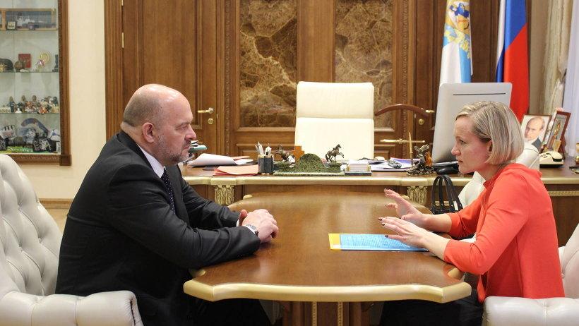 Игорь Орлов и Ольга Горелова обсудили направления работы правозащитного института