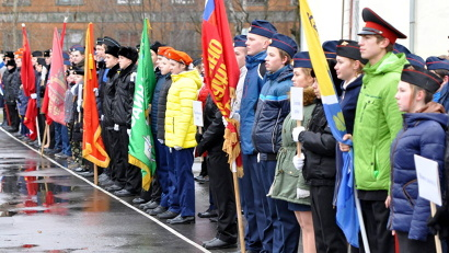 В слёте участвуют кадеты из 12 муниципалитетов региона