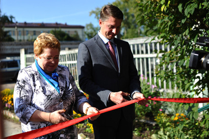 В открытии нового здания приняли участие министр здравоохранения Лариса Меньшикова и глава Котласа Андрей Бральнин