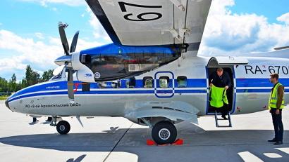 Рейсы осуществляются воздушными судами Л-410 2-го Архангельского объединённого авиаотряда