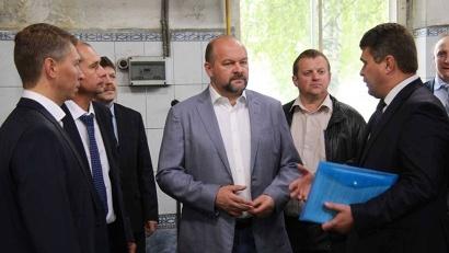 Игорь Орлов посетил эксплуатационное локомотивное депо «Котлас»