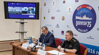 Пресс-конференция прошла в форме телемоста, объединившего Москву, Санкт-Петербург и Архангельск