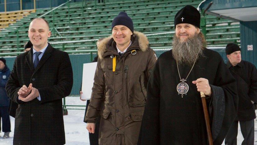 Владыка Даниил и руководство СК «Водник» открыли турнир на призы Святейшего Патриарха Московского и Всея Руси