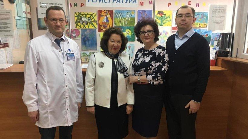 Посещение Архангельской городской детской поликлиники