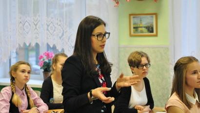 Чуть больше месяца назад Екатерина Кемова начала свой профессиональный путь в архангельской школе №8