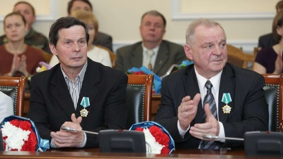 Награждённые Орденом Дружбы северодвинцы Владимир Ульянов и Александр Лапин