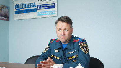 Начальник пресс-службы регионального управления МЧС Дмитрий Чистяков. Фото Дениса Селиванова