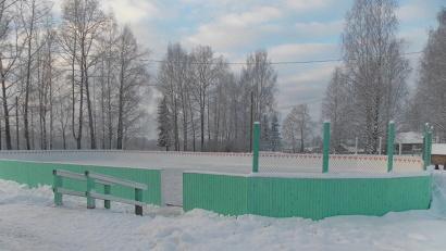 ТОС выступил инициатором реконструкции катка в деревне Юрятинская