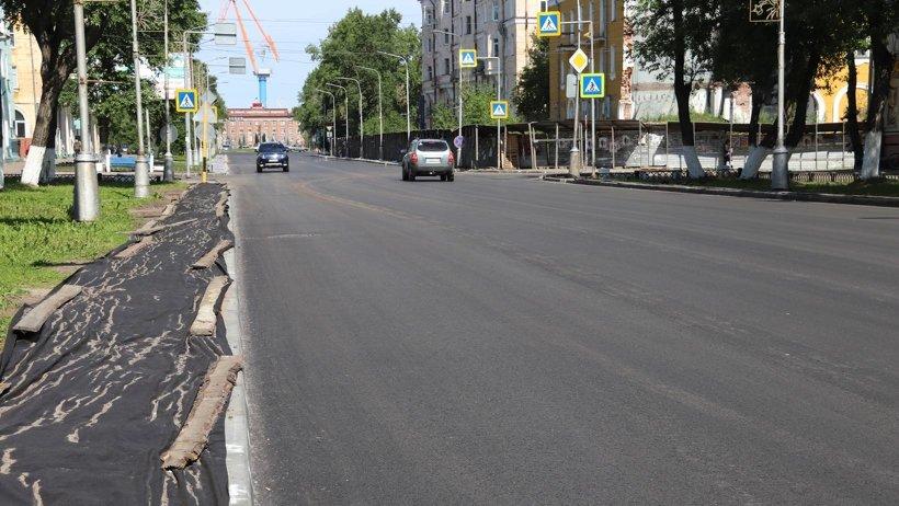 Только на проспект Ленина ушло порядка шести тысяч тонн асфальта