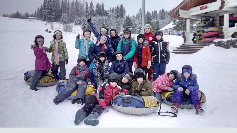 Любимый зимний отдых в Поморье: горки, санки, лыжи, активные игры