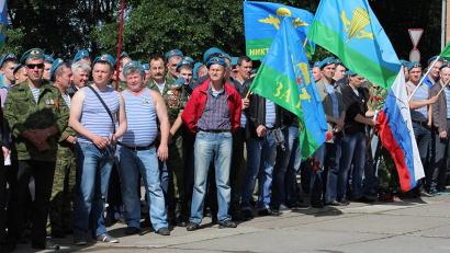 Десантники собрались на площади Мира в Архангельске