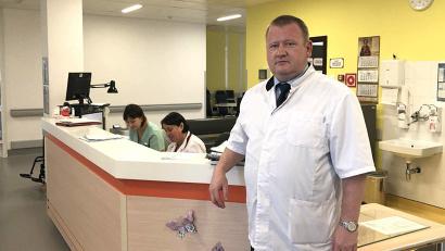 Александр Пьянков на посту акушерского отделения патологии беременности перинатального центра