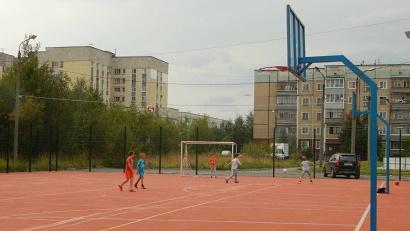 Спортплощадка в Северодвинске. Фото: агентство по спорту Архангельской области