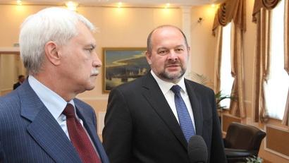Георгий Полтавченко и Игорь Орлов ответили на вопросы журналистов