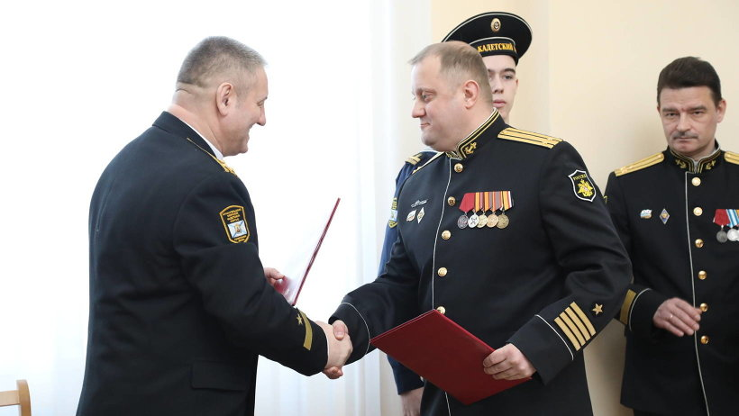 Благодаря соглашению лучшие выпускники кадетского корпуса получат возможность прохождения службы на корабле после окончания вуза/Фото: П. Кононов