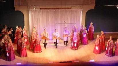 Выступление архангельских артистов в Твери. Фото предоставлено Северным русским народным хором