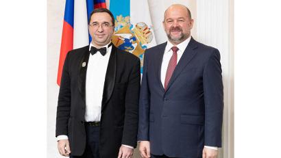 С присвоением почетного звания Отара Малишаву поздравил губернатор Архангельской области Игорь Орлов