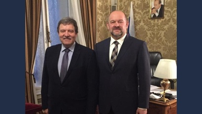 В рамках визита глава региона встретился с торговым представителем Российской Федерации в Австрии Александром Потемкиным