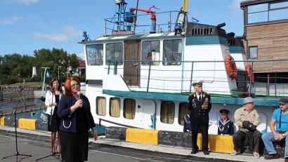 Министр культуры Вероника Яничек: «Судьба этого судна – это эхо истории, которую мы обязаны помнить, передавать будущим поколениям»