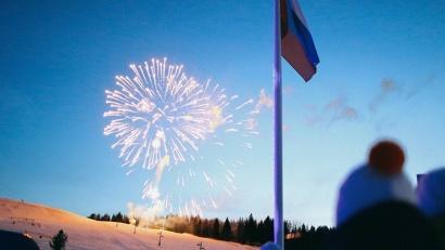 Фейерверк стал по-настоящему красочной и яркой точкой в завершении чемпионата России