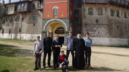 Архангельские школьники в монастыре Филофей на Афоне