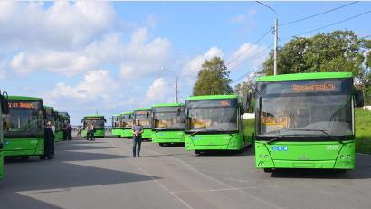 15 новых автобусов МАЗ выходят на улицы Архангельска