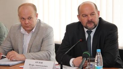 Министр экономического развития и конкурентной политики Виктор Иконников и врио губернатора Игорь Орлов