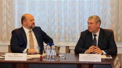 Игорь Орлов и Сергей Кобзев: у региона и железнодорожников полное взаимопонимание