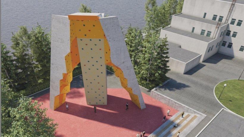 Уникальный уличный скалодром, который должен появиться в городе корабелов, еще никто и никогда не строил на территории СЗФО