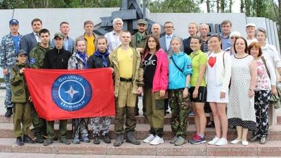 Участники пешей экспедиции «Увековечим память героев Беломорья»