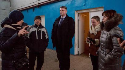 Андрей Багрецов осмотрел объекты спортивной инфраструктуры Цигломени