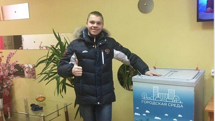 Чемпион Азии, Европы и мира по тхэквондо Даниил Малофеев – за сквер у храма Александра Невского