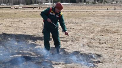 C начала этого года это уже шестой пожар на землях лесного фонда. Все возгорания были ликвидированы сотрудниками ЕЛЦ в тот же день
