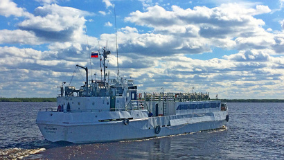 Первый рейс в навигацию 2018 года «Беломорье» выполняет по маршруту Архангельск–Пушлахта
