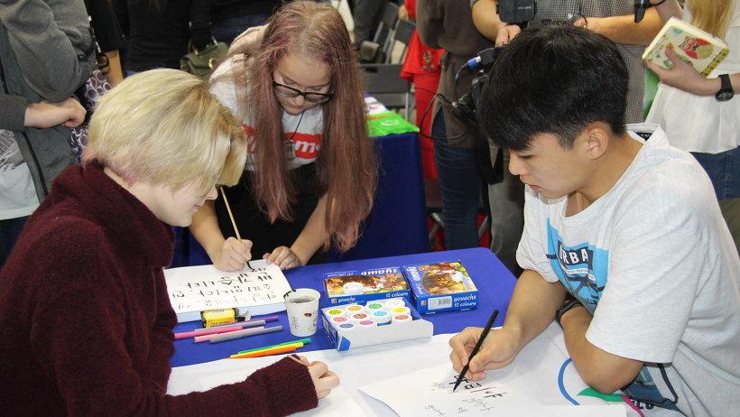 На празднике работали площадки с мастер-классами и выставками