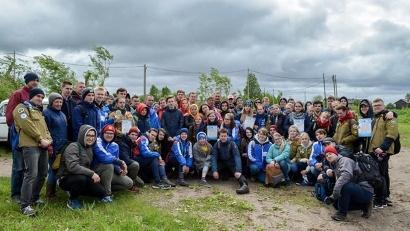 Участниками акции стали 17 команд общей численностью 80 человек. Фото: ГАУ «Штаб молодежных трудовых отрядов Архангельской области»