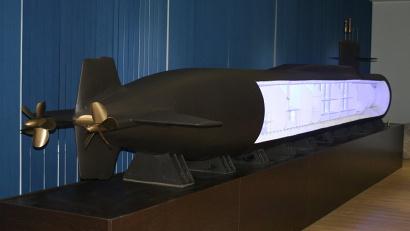 Макет атомной подводной лодки - смысловое ядро экспозиции по истории Северодвинска