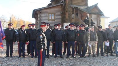 Добровольная казачья дружина Архангельского казачьего общества еженедельно выходит на охрану общественного порядка