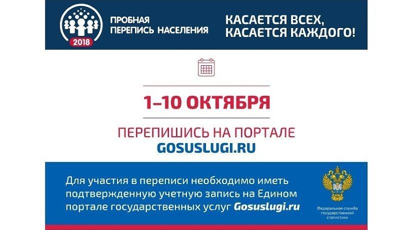 Самостоятельно заполнить электронный переписной лист на портале Госуслуг жители Архангельской области и НАО смогут только в период с 1 по 10 октября