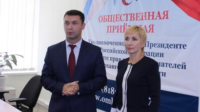 Бизнес-омбудсмен Николай Евменов и министр Ирина Гладышева