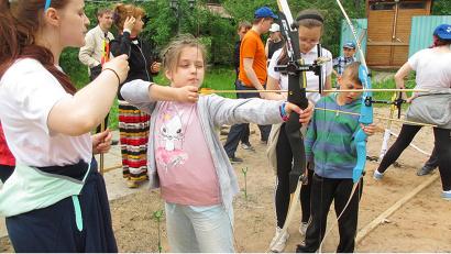 Юные спортсмены поучаствовали в мастер-классе по стрельбе из лука