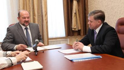 Игорь Орлов и глава Каргопольского района Андрей Егоров